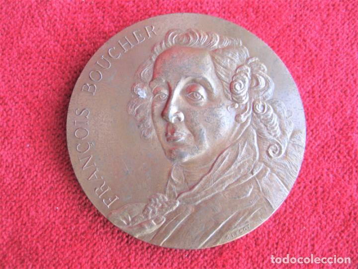 Medallas históricas: MEDALLA DE BRONCE 1966 FIRMADA C. LESOT, DEDICADA A FRANCOIS BOUCHER, PINTOR ROCOCÓ 1703-1770 - Foto 6 - 196141275