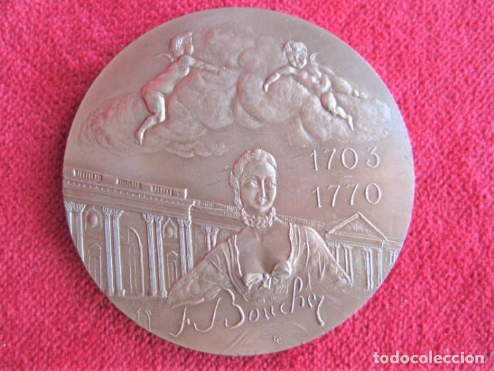 Medallas históricas: MEDALLA DE BRONCE 1966 FIRMADA C. LESOT, DEDICADA A FRANCOIS BOUCHER, PINTOR ROCOCÓ 1703-1770 - Foto 9 - 196141275