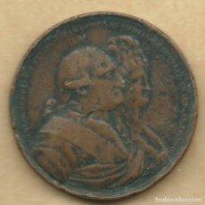 Medallas históricas: MEDALLA PROCLAMACION CARLOS IV 1790 GUANAJUATO. Lote 196479905