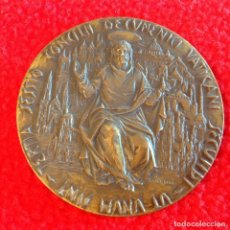 Medallas históricas: MEDALLA DE BRONCE DE LA TERCERA SESIÓN DEL CONCILIO ECUMÉNICO SEGUNDO, 44 MM. FIRMADA. MUY BONITA.. Lote 196485178