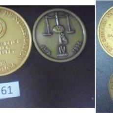 Medallas históricas: LOTE DE CUATRO PIEZAS (4). XVI SEMANA NAC. NUM. BARCELONA 1993. ILUSTRÍSIMO COLEGIO DE ABOGADOS.... Lote 197142596