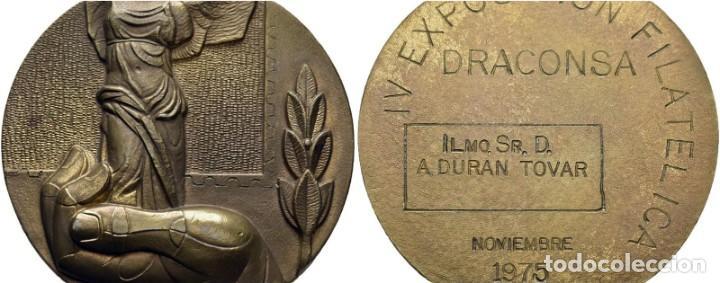 IV EXP. FILATÉLICA. DRACONSA (DRAGADOS Y CONSTRUCCIONES) NOVIEMBRE 1975. LA VENUS DE SAMOTRACIA. SC (Numismática - Medallería - Histórica)