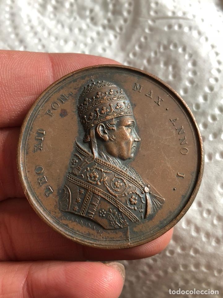 Medallas históricas: Magnifica medalla del papa leon XII, original - Foto 2 - 197827568