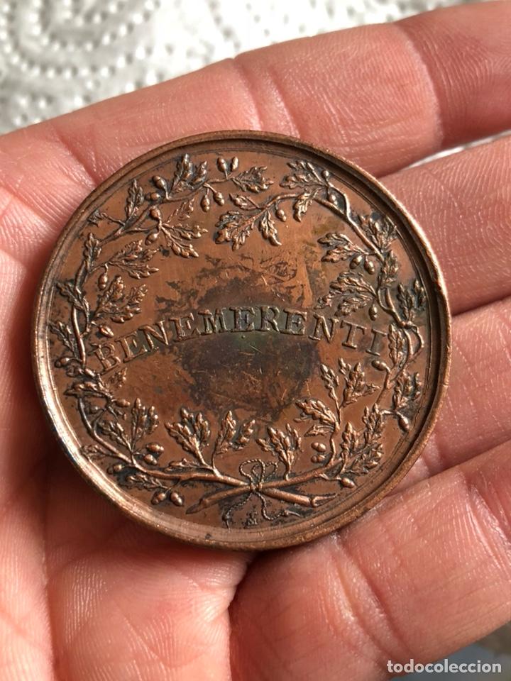 Medallas históricas: Magnifica medalla del papa leon XII, original - Foto 3 - 197827568