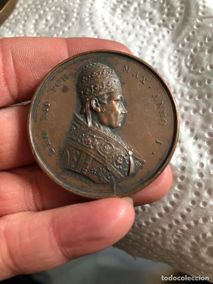 MAGNIFICA MEDALLA DEL PAPA LEON XII, ORIGINAL (Numismática - Medallería - Histórica)
