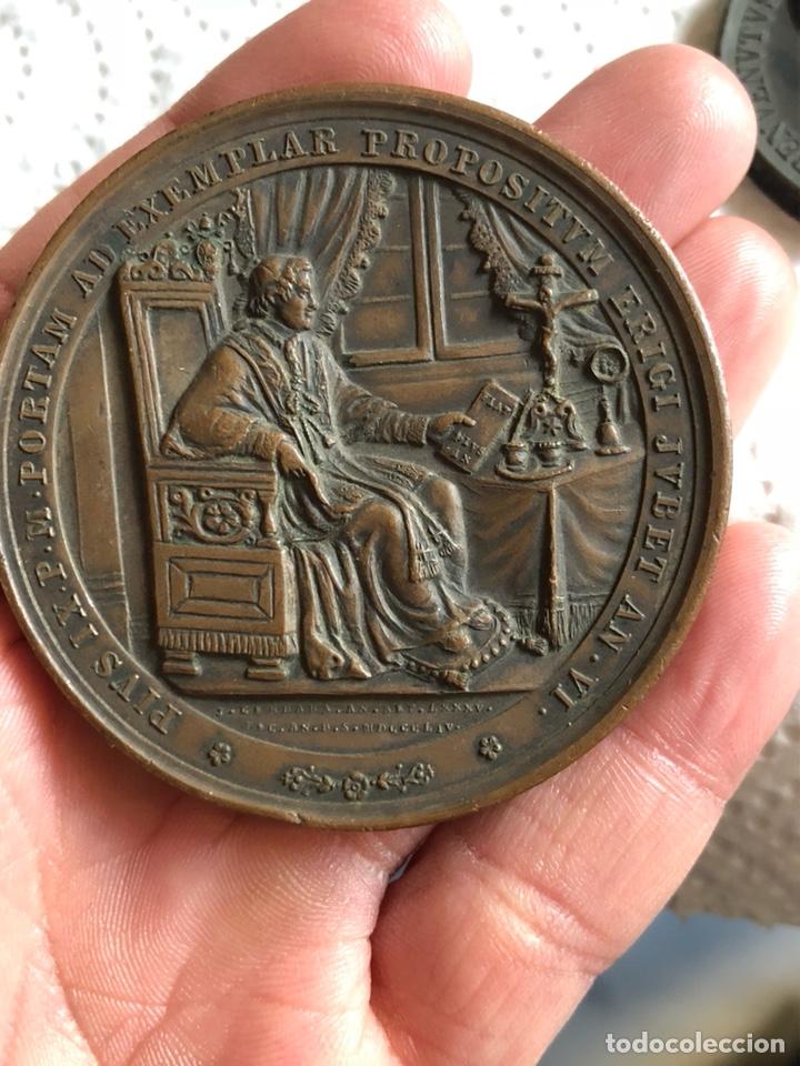 MAGNIFICA MEDALLA DEL PAPA PÍO IX, ORIGINAL (Numismática - Medallería - Histórica)