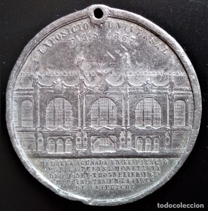 Medallas históricas: MEDALLA EXPOSICIÓN UNIVERSAL PARIS 1867 ISABEL II - Foto 2 - 198017723