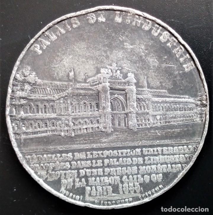 Medallas históricas: MEDALLA EUGENIA EMPRERATRIZ EUGENIE IMPERATRICE EXPOSICION UNIVERSAL PARIS 1855 INDUSTRIA - Foto 2 - 198017903