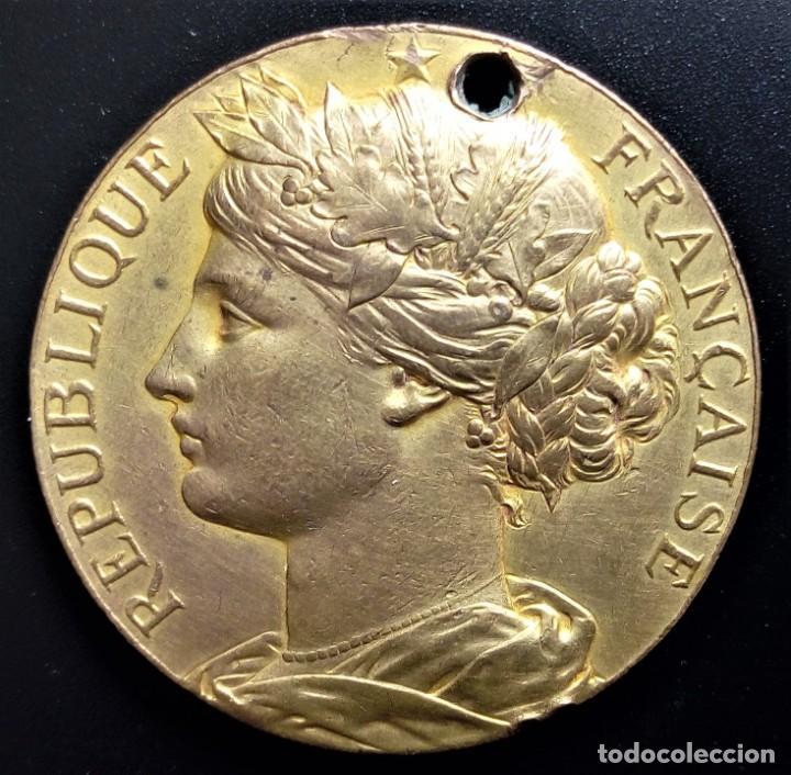 MEDALLA FRANCIA REPUBLIQUE FRANCAISE SUD-EST GRENOBLE (Numismática - Medallería - Histórica)