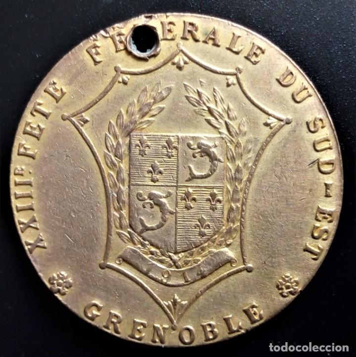 Medallas históricas: MEDALLA FRANCIA REPUBLIQUE FRANCAISE SUD-EST GRENOBLE - Foto 2 - 198018290