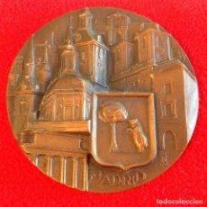 Medallas históricas: MEDALLA DE MADRID, DE 1966, EDITADA POR LA FNMT, ESCULTOR: FERNANDO JESÚS, 80 MM. PRECIOSA. Lote 198216948