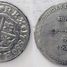 Medallas históricas: LAS MONEDAS DE LOS BORBONES. COLECCIÓN ORTIZ. 1 REAL 1733 FELIPE V.. Lote 198358785