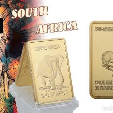 Medallas históricas: AFRICA LINGOTE ORO 24 KILATES 45 GRAMOS ( HOMENAJE A LA GACELA Y ELEFANTE AFRICANO ) Nº4. Lote 198857435
