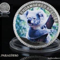 Medallas históricas: AUTRALIA 100 DOLARES MEDALLA TIPO MONEDA PLATA ( KOALA AUSTRALIANO ) - PESO 33 GRAMOS - Nº2. Lote 199257653