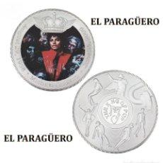 Medallas históricas: MEDALLA TIPO MONEDA PLATA ( ANIVERSARIO DE MICHAEL JACKSON REY DEL POP ) - PESO 32 GRAMOS - Nº1. Lote 199432096