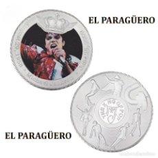 Medallas históricas: MEDALLA TIPO MONEDA PLATA ( ANIVERSARIO DE MICHAEL JACKSON REY DEL POP ) - PESO 34 GRAMOS - Nº3. Lote 199432318