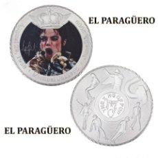 Medallas históricas: MEDALLA TIPO MONEDA PLATA ( ANIVERSARIO DE MICHAEL JACKSON REY DEL POP ) - PESO 35 GRAMOS - Nº4. Lote 199432396