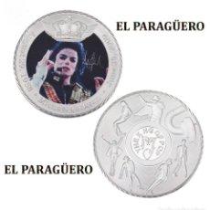 Medallas históricas: MEDALLA TIPO MONEDA PLATA ( ANIVERSARIO DE MICHAEL JACKSON REY DEL POP ) - PESO 36 GRAMOS - Nº5. Lote 199432450