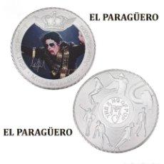 Medallas históricas: MEDALLA TIPO MONEDA PLATA ( ANIVERSARIO DE MICHAEL JACKSON REY DEL POP ) - PESO 37 GRAMOS - Nº6. Lote 199432508