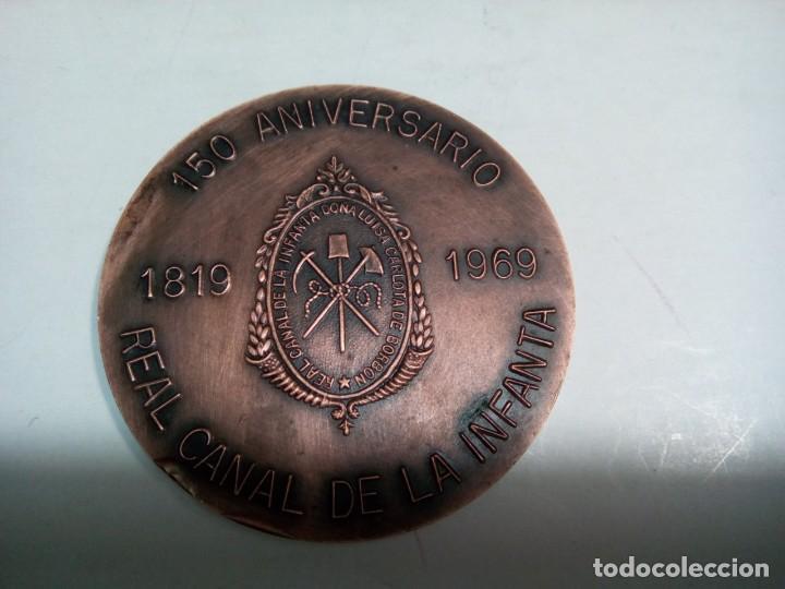 * MEDALLA 150 ANIVERSARIO REAL CANAL DE LA INFANTA.1819-1969 (RF:M-33/*) (Numismática - Medallería - Histórica)