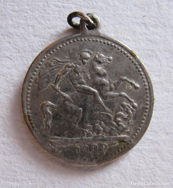MEDALLA EDWARDVS VII D.G.BRITT CORONATION COIN 1909. DIAM. 2 CM (Numismática - Medallería - Histórica)