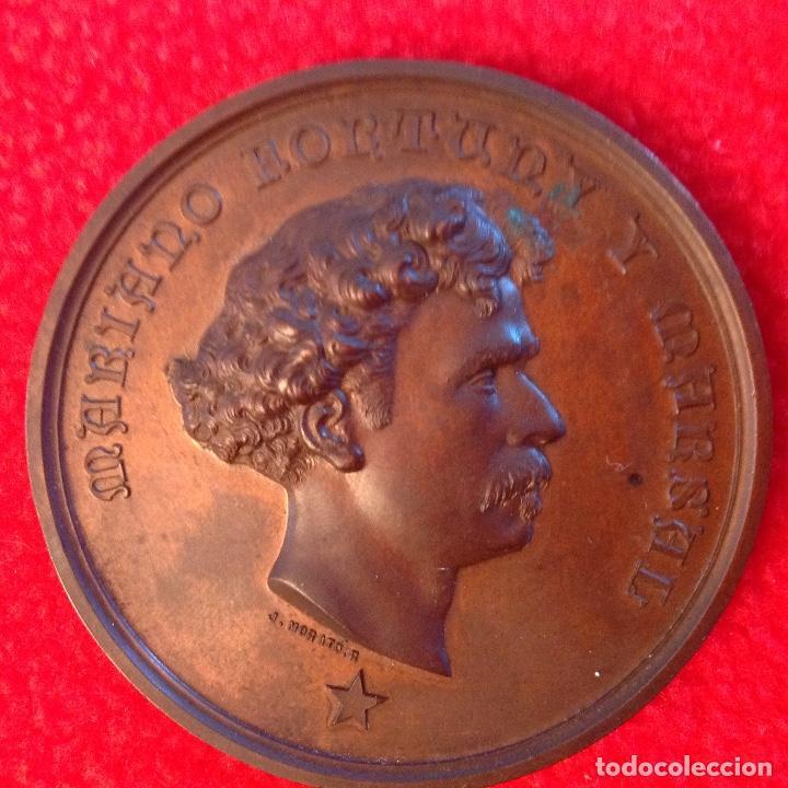 MEDALLA DE BRONCE A MARIANO FORTUNY Y MARSAL, 1874, FIRMADA: JACINTO MORATÓ, EDIT. POR CASTELLS, (Numismática - Medallería - Histórica)