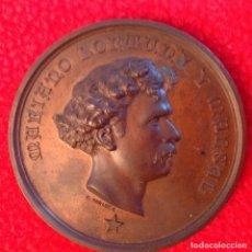 Medallas históricas: MEDALLA DE BRONCE A MARIANO FORTUNY Y MARSAL, 1874, FIRMADA: JACINTO MORATÓ, EDIT. POR CASTELLS,. Lote 200013113