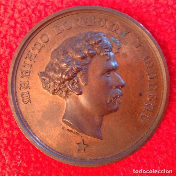 Medallas históricas: Medalla de bronce a Mariano Fortuny y Marsal, 1874, firmada: Jacinto Morató, edit. por Castells, - Foto 3 - 200013113