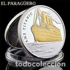 Medallas históricas: MEDALLA PLATA Y ORO TIPO MONEDA ( HOMENAJE AL TITANIC )PESO 35 GRA LEER DENTRO-Nº4. Lote 200085541