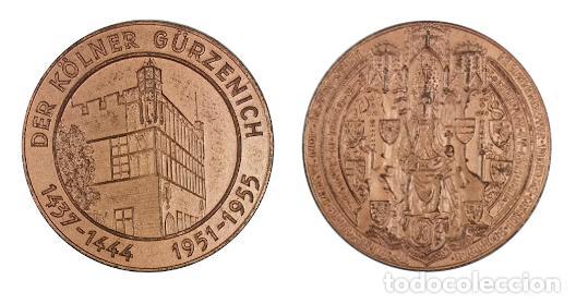 MEDALLA ALEMANIA, CIUDAD DE COLONIA (Numismática - Medallería - Histórica)