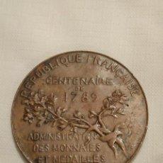 Medallas históricas: INAUGURACIÓN TORRE EIFFEL 1889 EXPOSICIÓN UNIVERSAL MEDALLA DE PARÍS. BRONCE. RÉPUBLIQUE FRANCAISE . Lote 201275296