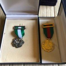 Medallas históricas: LOTE DE 2 MEDALLAS DE JUSTICIA, 1 DE ELLAS DE PLATA. Lote 201914078