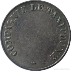 Medallas históricas: FRANCIA. TOKEN PARA TELÉFONO PÚBLICO COMPAGNIE LE TAXIPHONE, DE 24MM. (171).. Lote 202332748