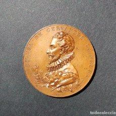 Medallas históricas: MIGUEL DE CERVANTES SAAVEDRA. 1905 - III CENTENARIO PUBLICACIÓN DEL QUIJOTE - B. MAURA. Lote 203347285