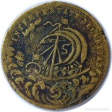 Medallas históricas: INTEMPESTATE SECURITAS. MEDALLA TALISMÁN DE NAVEGANTES. (177).. Lote 203578048