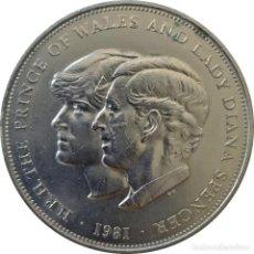 Medallas históricas: REINO UNIDO. MEDALLA CONMEMORATIVA DE LA BODA REAL ENTRE LADY DI Y EL PRINCIPE DE GALES. 1981 (140).. Lote 203801447