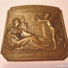 Medallas históricas: RARA MEDALLA INAUGURACIÓN DE ST. GILLES POR CHARLES SAMUEL 1904. Lote 204469811