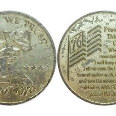 Medallas históricas: MEDALLA DE ESTADOS UNIDOS, CREDO DE ROBERT SCHULLER, 1776-1976. Lote 204589067