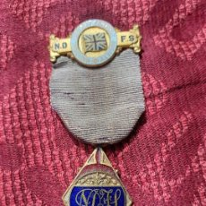 Medallas históricas: MEDALLA MASONES NATIONAL DEP. FRIENDLY SOCIETY. Lote 204687781