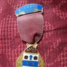 Medallas históricas: MEDALLA MASONES STEWARD 1957. Lote 204690325