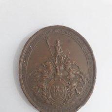 Medallas históricas: RARA MEDALLA DE BRONCE, ISABEL II, 1858, INAUGURACIÓN DE OBRAS HÍDRICAS DE CUBA. Lote 204800045