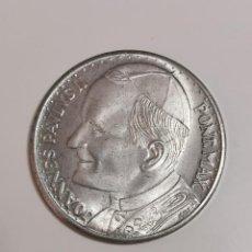 Medaglie storiche: MONEDA MEDALLA DEL PAPA JUAN PABLO II EN SU VIAJE A ESPAÑA - 35MM 15GR. Lote 205002698