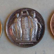 Medallas históricas: MEDALLAS DE ORO, PLATA Y COBRE ACUÑADAS CON MOTIVO DE LA APROBACIÓN DE LA CONSTITUCIÓN DE 1978. Lote 205052283
