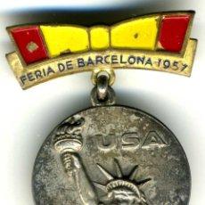 Medalhas históricas: XS- MEDALLA DE EE. UU. 1957 PLATA FERIA DE BARCELONA -- ESTATUA DE LA LIBERTAD. Lote 205178746