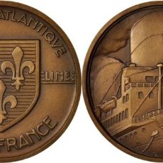 Medallas históricas: MEDALLA, COMPAGNIE GÉNÉRALE TRANSATLANTIQUE, ILE-DE-FRANCE. Lote 205304212