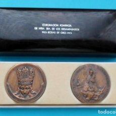 Medallas históricas: CORONACION PONTIFICIA DE NTRA SRA DE LOS DESAMPARADOS, 1923 BODAS DE ORO 1973. Lote 205716043