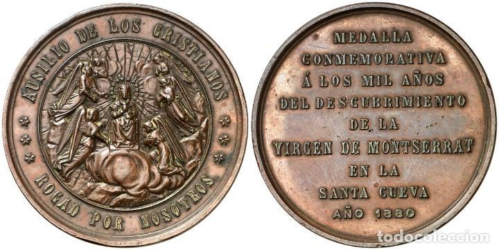 MEDALLA CONMEMORACION A LOS 1000 AÑOS DEL DESCUBRIMIENTO DE LA VIRGEN DE MONSERRAT EBC (Numismática - Medallería - Histórica)
