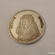 Medallas históricas: AUSIAS MARCH MONEDA EN PLATA DE LEY. Lote 206414435