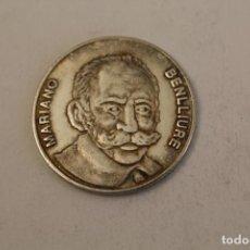 Medallas históricas: MARIANO BENLLIURE MONEDA EN PLATA DE LEY. Lote 206415252