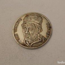 Medallas históricas: SAN VICENTE FERRER MONEDA EN PLATA DE LEY. Lote 206416645